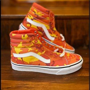 Vans Sk8-Hi Camo 'Orange/White' Shoes